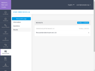 Results page demo